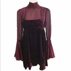Free People Dresses - Free people counting stars mini dress Red size SP